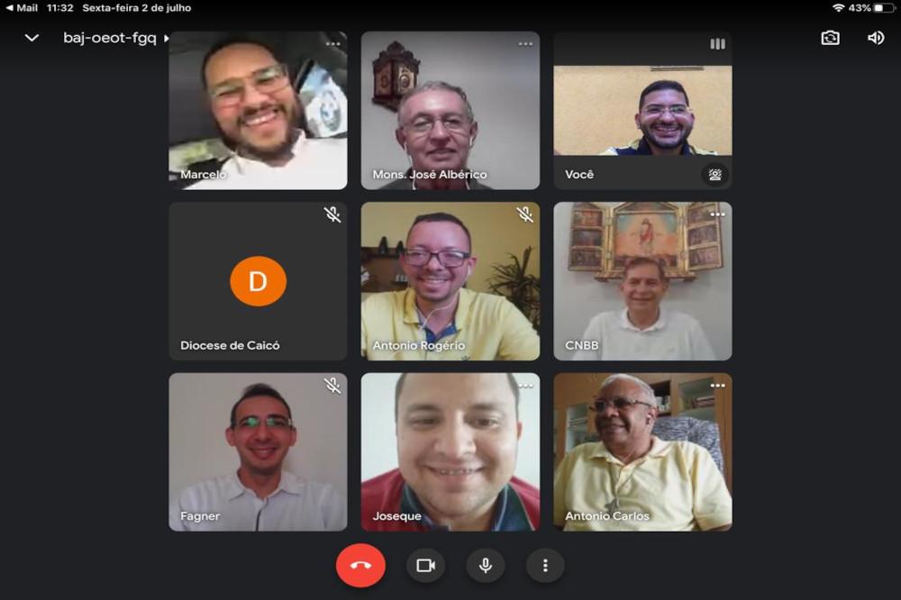 Reunião virtual de elaboração da Novena de Natal